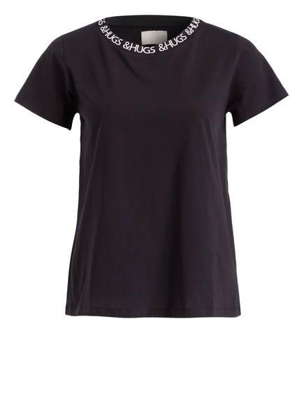Schwarz Hugs amp; Mrs T shirt nWIqATv0
