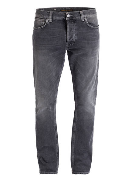 Nudie Jeans Jeans GRIM TIM Slim Straight Fit, Farbe: SHIMMERING GREY (Bild 1)