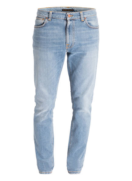 Nudie Jeans Jeans GRIM TIM Slim Straight Fit, Farbe: LIGHT STONE COMFORT BLUE	 (Bild 1)