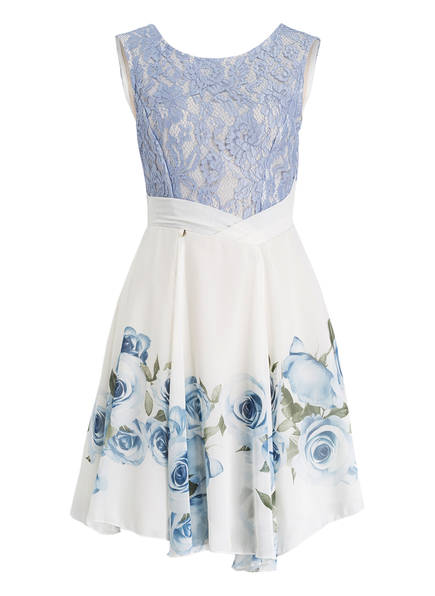 RINASCIMENTO Kleid, Farbe: HELLBLAU/ WEISS/ OLIV (Bild 1)