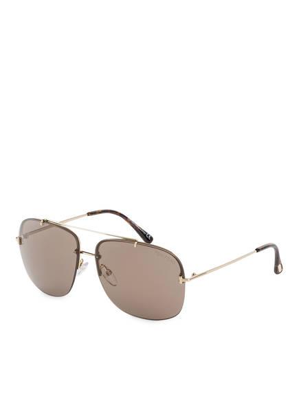TOM FORD Sonnenbrille SHELBY, Farbe: 28J - ROSÉGOLD/ BRAUN (Bild 1)