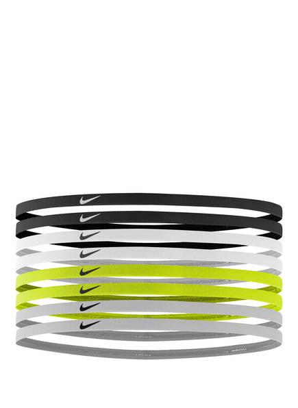 Nike 8er-Pack Skinny-Haarbänder, Farbe: SCHWARZ/ WEISS/ NEONGRÜN (Bild 1)