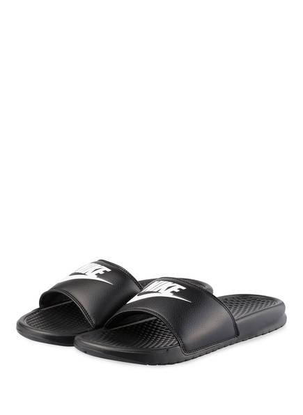 Nike Badeschuhe BENASSI JDI, Farbe: SCHWARZ (Bild 1)