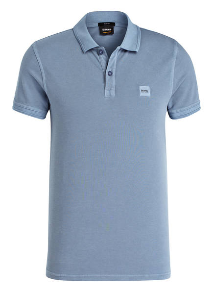 BOSS Piqué-Poloshirt PRIME Slim Fit, Farbe: BLAU (Bild 1)