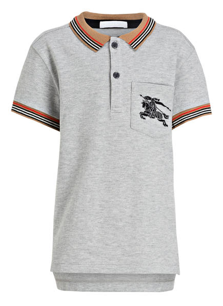 BURBERRY Poloshirt NOEL, Farbe: GRAU MELIERT (Bild 1)