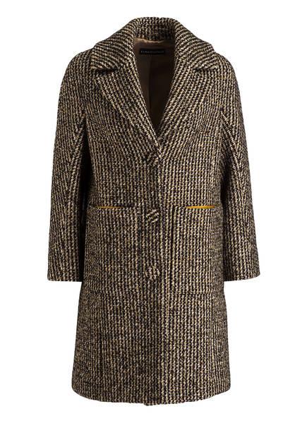 LUISA CERANO Tweed-Mantel, Farbe: SCHWARZ/ GRÜN/ CREME (Bild 1)