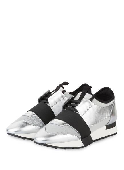 BALENCIAGA Sneaker RACE RUNNERS, Farbe: SILBER METALLIC/ SCHWARZ (Bild 1)