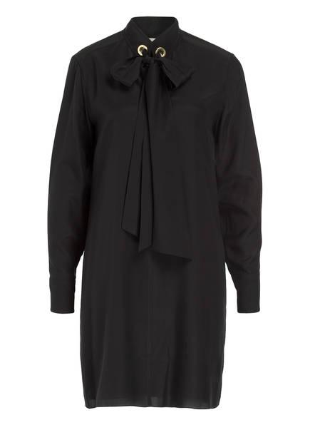 Chloé Hemdblusenkleid aus Seide, Farbe: SCHWARZ (Bild 1)