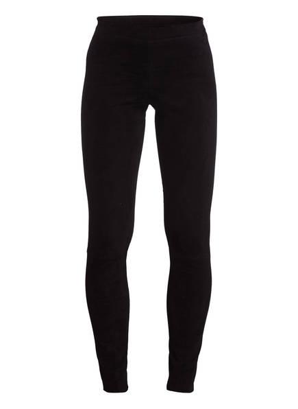 STOULS Veloursleder-Leggings CAROLYN, Farbe: SCHWARZ (Bild 1)