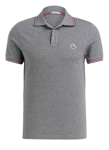 MONCLER Piqué-Poloshirt , Farbe: GRAU (Bild 1)