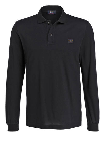 PAUL & SHARK Piqué-Poloshirt, Farbe: SCHWARZ (Bild 1)