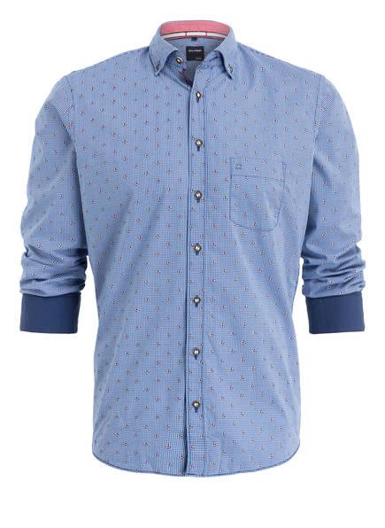 OLYMP Trachtenhemd, Farbe: BLAU/ WEISS KARIERT (Bild 1)