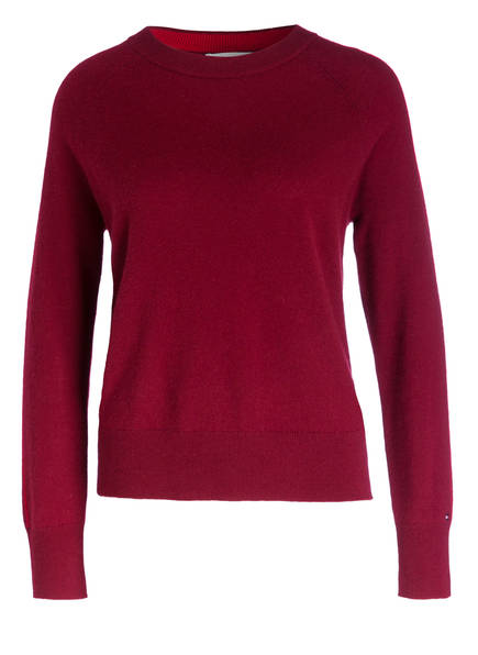 TOMMY HILFIGER Cashmere-Pullover , Farbe: DUNKELROT (Bild 1)
