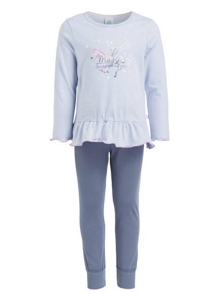 Sanetta Schlafanzug, Farbe: HELLBLAU/ WEISS/ BLAUGRAU (Bild 1)