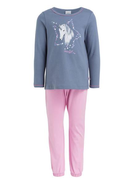 Sanetta Schlafzug, Farbe: BLAUGRAU/ ROSA (Bild 1)