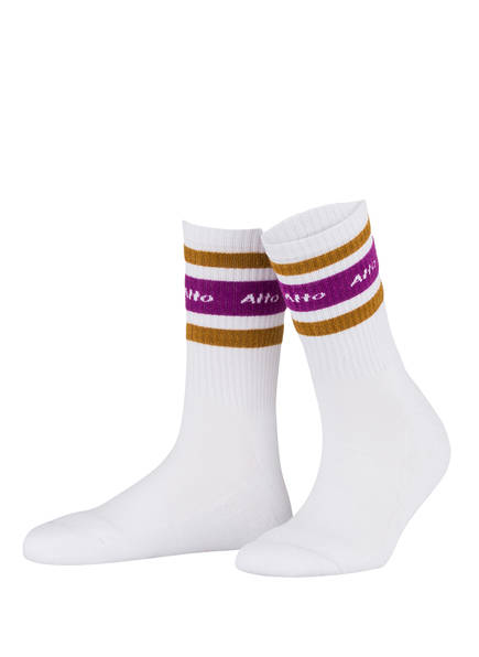 ALTO MILANO Socken, Farbe: WEISS (Bild 1)