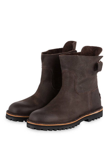 SHABBIES AMSTERDAM Boots, Farbe: DUNKELBRAUN (Bild 1)