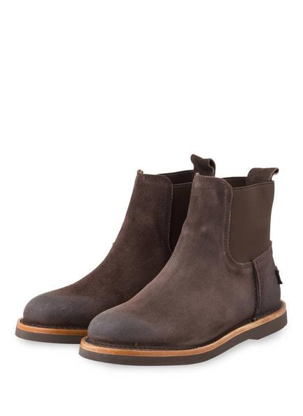 SHABBIES AMSTERDAM Chelsea-Boots , Farbe: DUNKELBRAUN (Bild 1)
