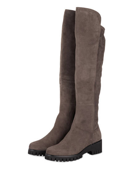 DONNA CAROLINA Overknee-Stiefel, Farbe: GRAU (Bild 1)