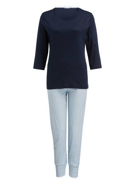mey Schlafanzug, Farbe: DUNKELBLAU/ HELLBLAU/ WEISS (Bild 1)