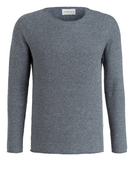 NOWADAYS Pullover THE HONEYCOMB , Farbe: GRAU MELIERT (Bild 1)