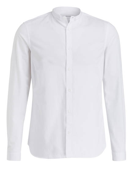 NOWADAYS Hemd Slim Fit mit Stehkragen, Farbe: WEISS (Bild 1)