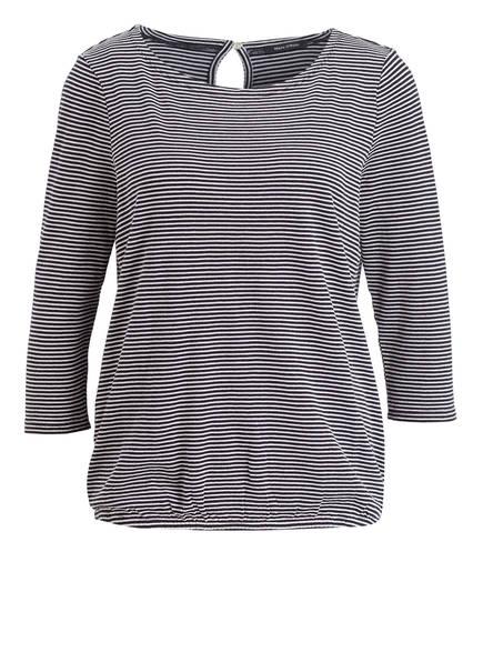 Marc O'Polo Shirt mit 3/4-Arm, Farbe: DUNKELBLAU/ WEISS GESTREIFT (Bild 1)