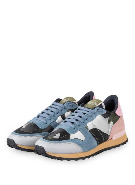VALENTINO GARAVANI Sneaker CAMOUFLAGE, Farbe: HELLBLAU/ GRÜN/ ROSA (Bild 1)
