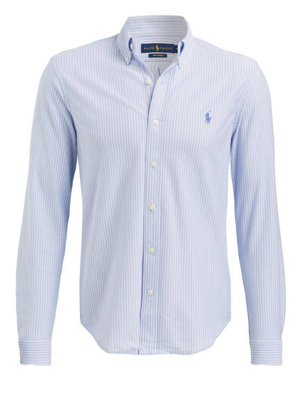 POLO RALPH LAUREN Oxfordhemd Standard Fit, Farbe: HELLBLAU/ WEISS GESTREIFT (Bild 1)