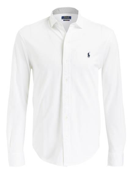 POLO RALPH LAUREN Piqué-Hemd Custom Slim Fit, Farbe: WEISS (Bild 1)