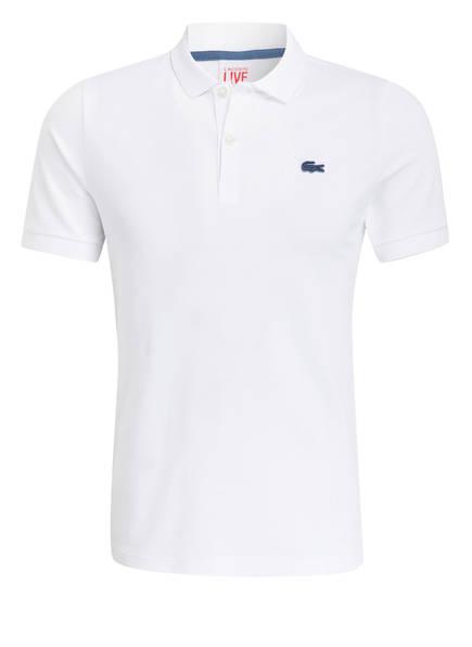 LACOSTE L!VE Piqué-Poloshirt Slim Fit, Farbe: WEISS (Bild 1)