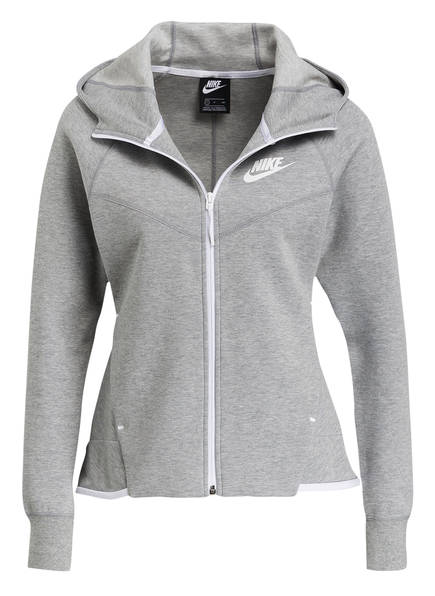 Nike Sweatjacke TECH FLEECE WINDRUNNER, Farbe: GRAU MELIERT (Bild 1)