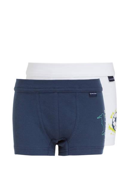 SCHIESSER 2er-Pack Boxershorts, Farbe: DUNKELBLAU/ WEISS (Bild 1)