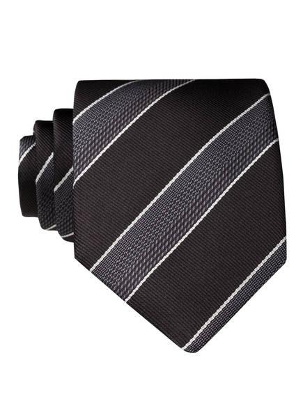 BOSS Krawatte, Farbe: SCHWARZ/ GRAU/ WEISS (Bild 1)