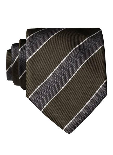 BOSS Krawatte, Farbe: DUNKELGRÜN/ BLAUGRAU/ WEISS (Bild 1)