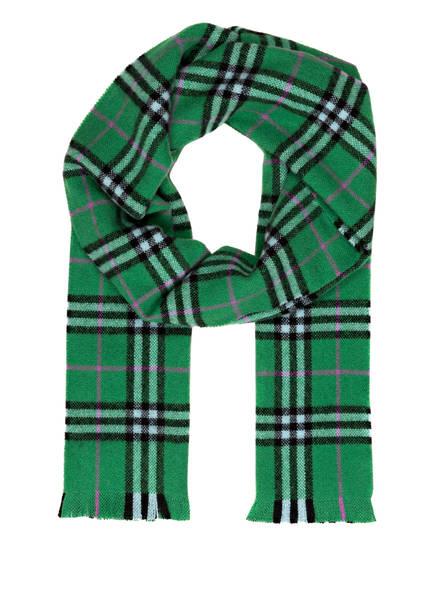 BURBERRY Cashmere-Schal, Farbe: GRÜN (Bild 1)