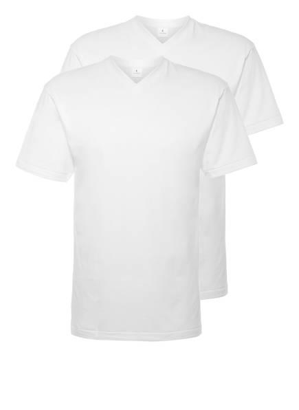 RAGMAN 2er-Pack V-Shirts , Farbe: WEISS (Bild 1)