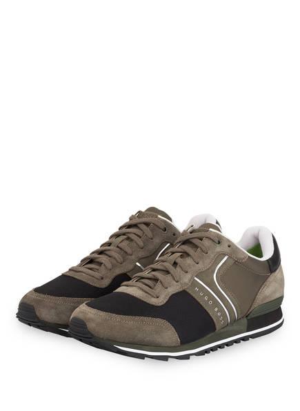 BOSS Sneaker PARKOUR, Farbe: DUNKELGRÜN/ SCHWARZ (Bild 1)