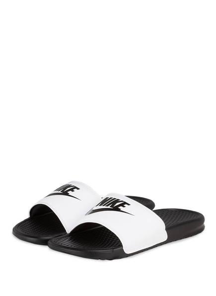 Nike Badeschuhe BENASSI JDI, Farbe: WEISS/ SCHWARZ (Bild 1)