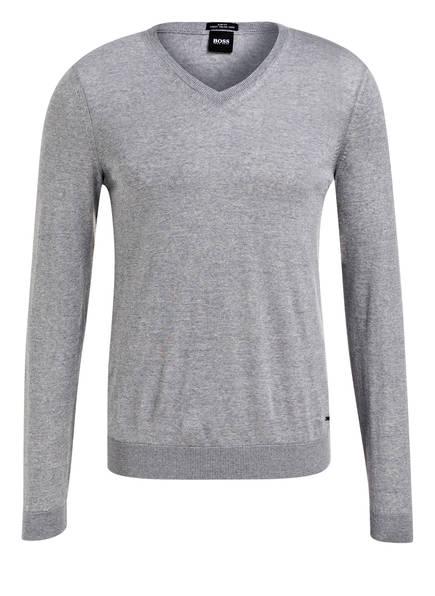 BOSS Schurwoll-Pullover MELBA-P, Farbe: GRAU MELIERT (Bild 1)