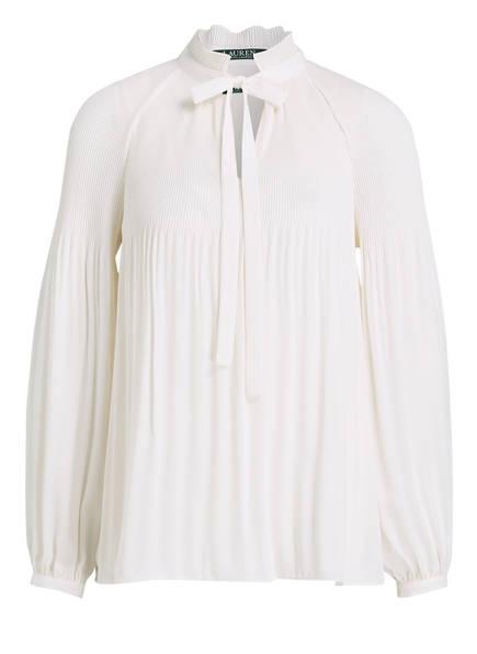 LAUREN RALPH LAUREN Plissee-Bluse DUONG, Farbe: CREME (Bild 1)