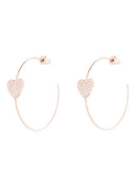 kate spade new york Creolen YOURS TRULY PAVE HEART, Farbe: ROSÉGOLD (Bild 1)