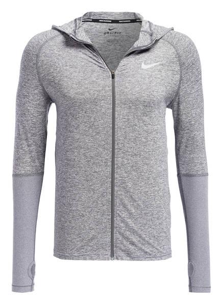 Nike Laufjacke, Farbe: GRAU MELIERT (Bild 1)