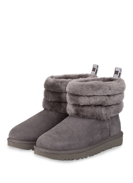 UGG Boots FLUFF MINI QUILTED, Farbe: GRAU (Bild 1)