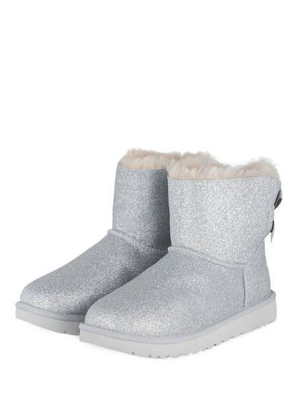 UGG Boots BAILEY BOW SPARKLE, Farbe: SILBER (Bild 1)