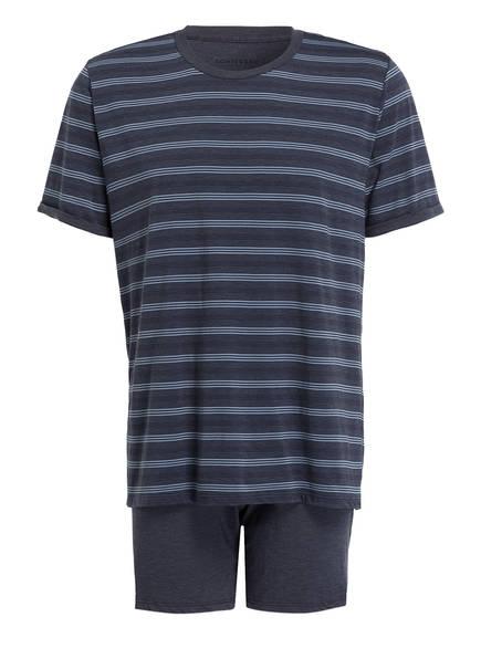 SCHIESSER Shorty-Schlafanzug, Farbe: BLAU/ BLAUGRAU (Bild 1)