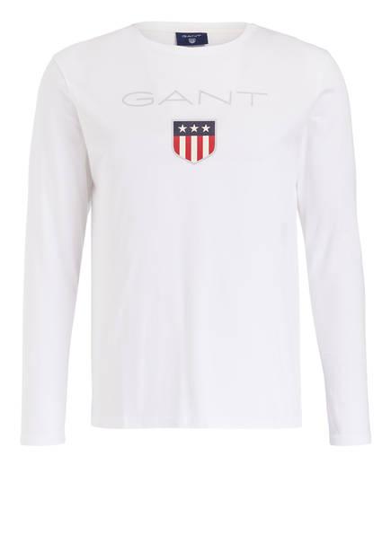 GANT Langarmshirt, Farbe: WEISS (Bild 1)