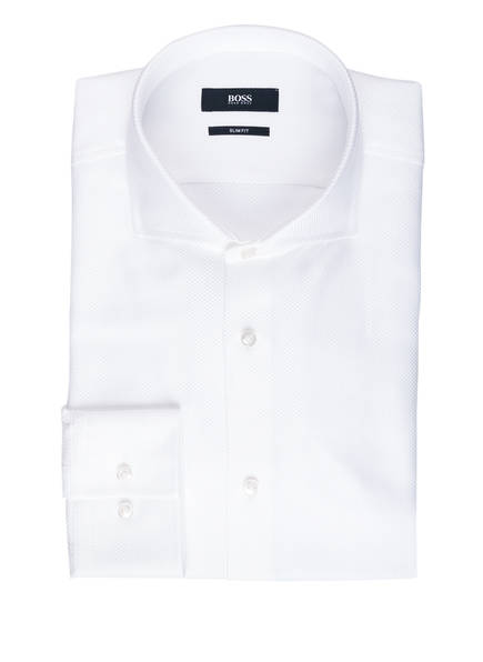 BOSS Hemd JASON Slim Fit, Farbe: WEISS STRUKTUR (Bild 1)