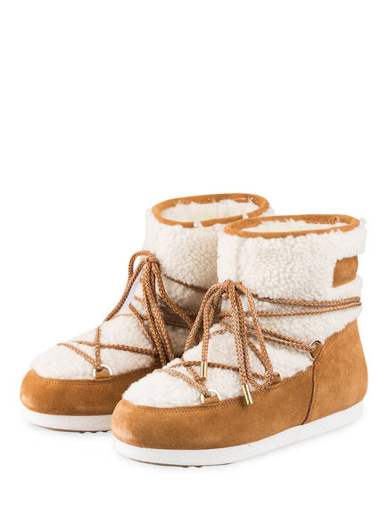 MOON BOOT Moon Boots FAR SIDE SHEARLING, Farbe: CAMEL/ WEISS (Bild 1)