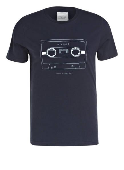 ARMEDANGELS T-Shirt JAMES MIX TAPE, Farbe: BLAU (Bild 1)